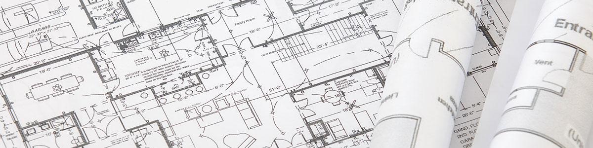 Bauplan Druckerei